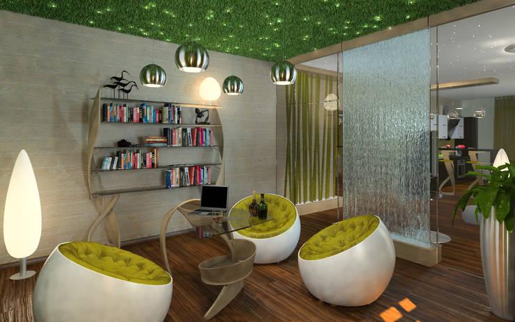 Cottage in Eco style: Рабочие кабинеты в . Автор – HandZart