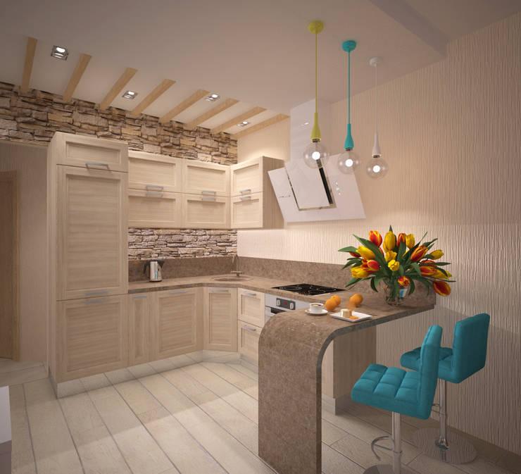 Кухня-гостиная: Кухни в . Автор – Студия дизайна Виктории Силаевой
