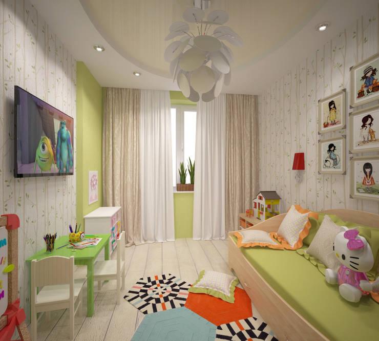 Детская для девочки: Детские комнаты в . Автор – Студия дизайна Виктории Силаевой