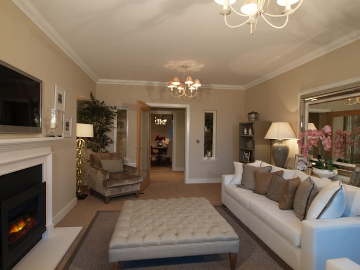Sandringham Court 03:  Living room by George Buchanan Architects