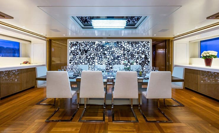Black Agate used on The Galaxy Yacht: modern Yachts & jets by ShellShock Designs