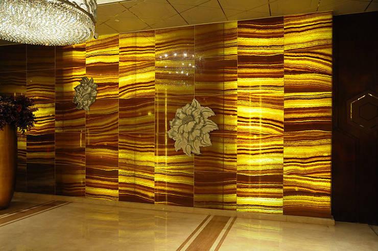 Back Lit Faux Alabaster:  Offices & stores by ShellShock Designs