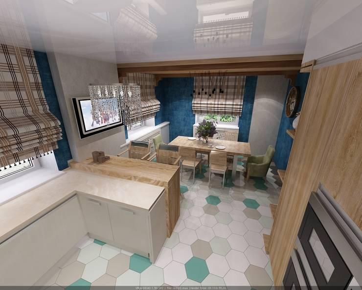 Sala da pranzo in stile  di Студия дизайна Натали Хованской, Mediterraneo