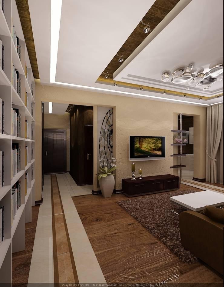 Квартира в Москве: Гостиная в . Автор – Студия дизайна Натали Хованской