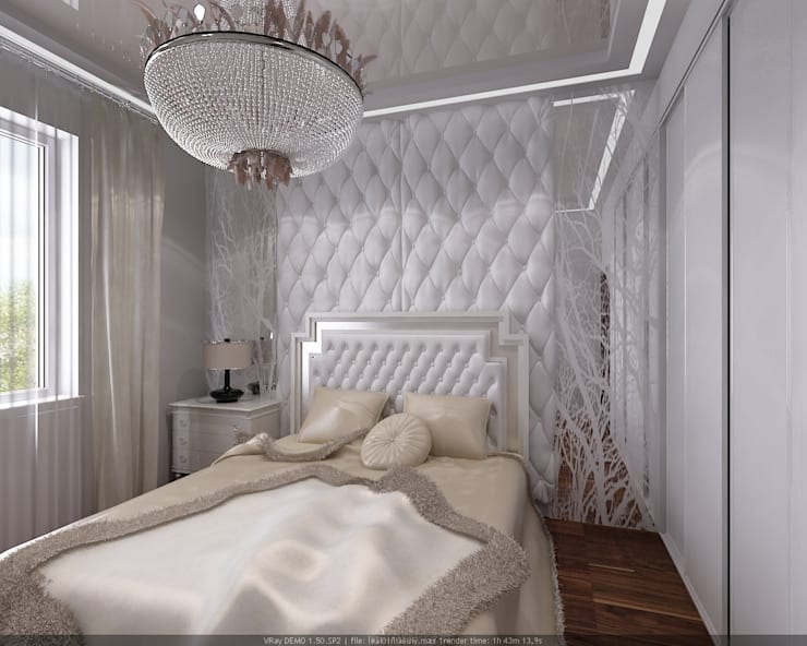Eclectic style bedroom by Студия дизайна Натали Хованской Eclectic
