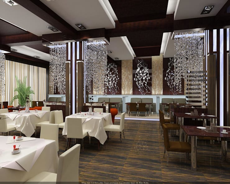 Ресторан: Стены в . Автор – Студия дизайна Натали Хованской