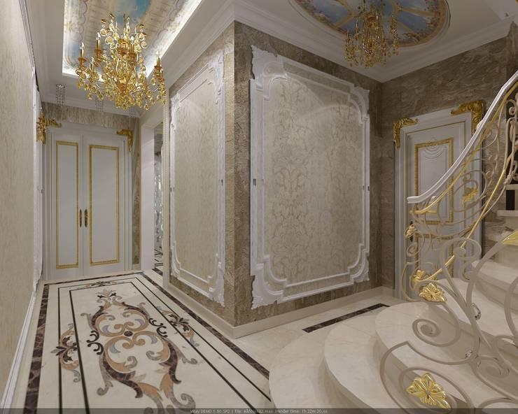 Холл: Коридор и прихожая в . Автор – Студия дизайна Натали Хованской, Классический