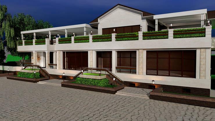 Фасад кафе: Дома в . Автор – Студия дизайна Натали Хованской, Эклектичный