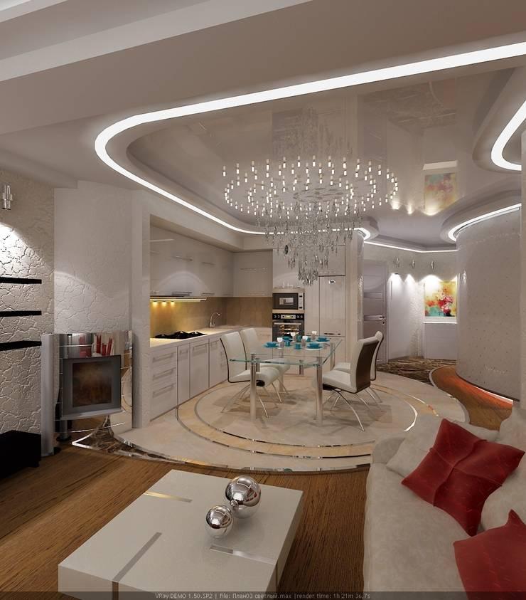 Квартира : Столовые комнаты в . Автор – Студия дизайна Натали Хованской