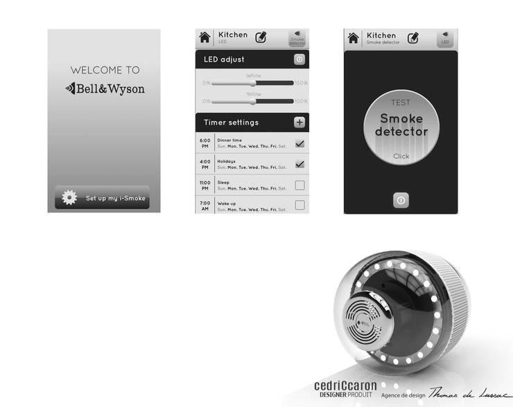 BW 1.1  L'ampoule connectée, détecteur de fumée: Salle à manger de style de style Moderne par CedriCcaron