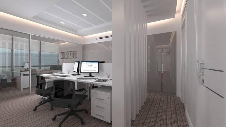 TARKAN OKTAY MİMARLIK – HUKUK BÜROSU:  tarz Ofis Alanları