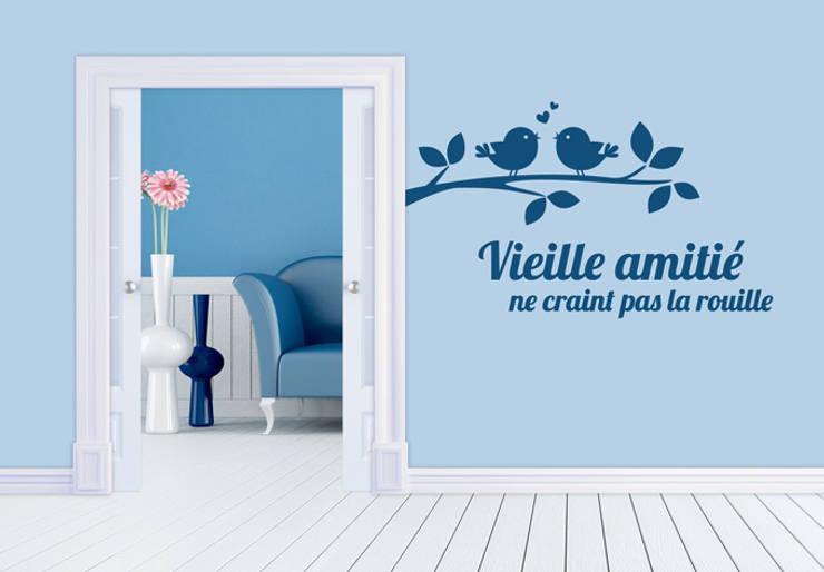 Sticker Mural - Vieille amitié ne craint pas la rouille: Maison de style  par wall-art.fr