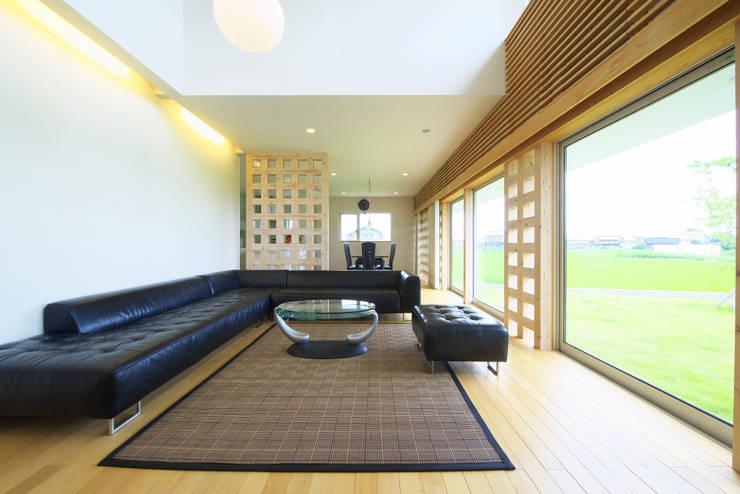 社宮司の家: 五藤久佳デザインオフィス有限会社が手掛けたリビングです。