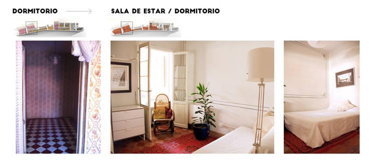 Apartamento en Malasaña:  de estilo  de CARLA GARCÍA