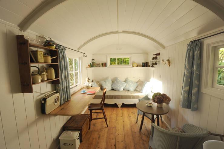 Shepherd hut interior:   by Roundhill Shepherd Huts