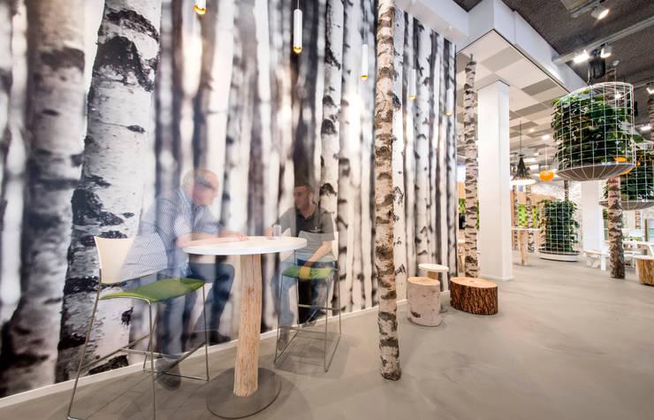 De bomenwand:  Kantoorgebouwen door CUBE architecten