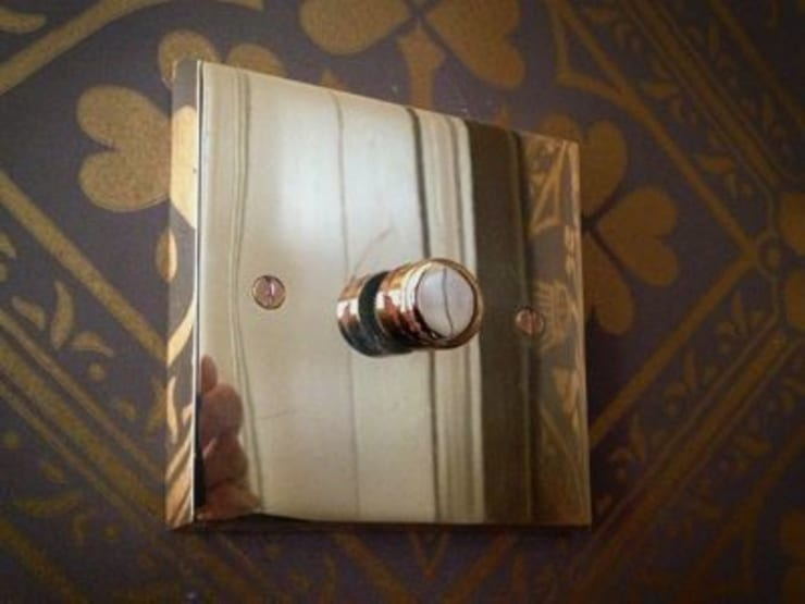 Brass light switch:  Dining room by The Victorian Emporium