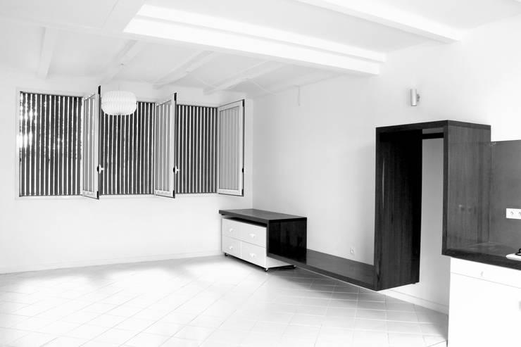7BIS – Réhabilitation d'une maison individuelle: Cuisine de style  par ARA Architecture Aménagement