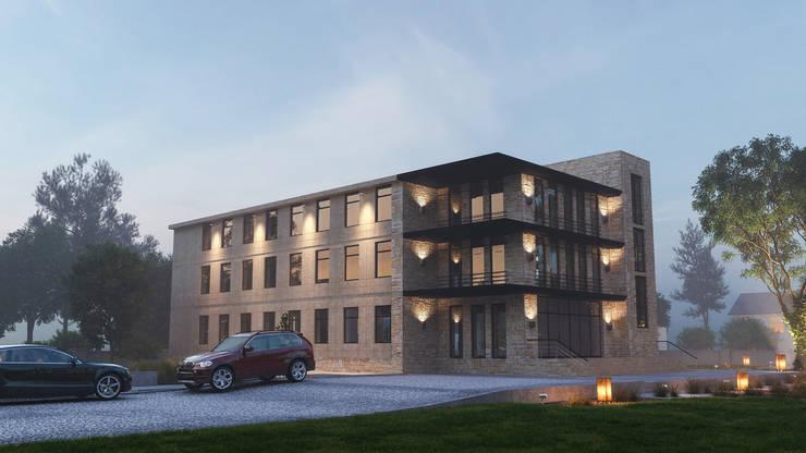 Офисное здание: Офисные помещения в . Автор – ARCHIplus, Лофт