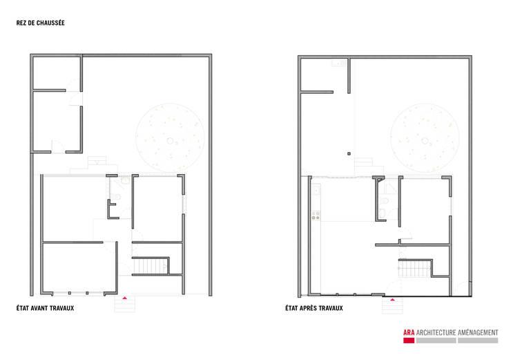7BIS – Réhabilitation d'une maison individuelle:  de style  par ARA Architecture Aménagement
