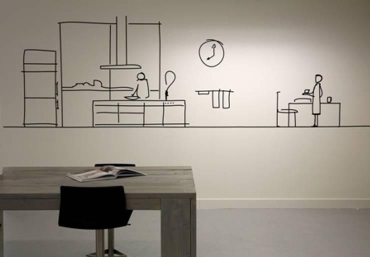 Muurtekening:  Kantoor- & winkelruimten door NewLook Brasschaat Keukens