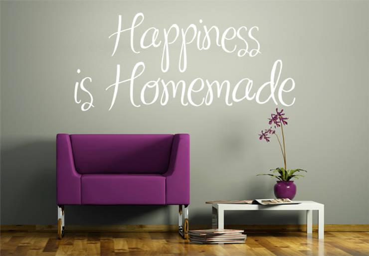 Sticker Mural - Happiness is Homemade: Maison de style  par wall-art.fr