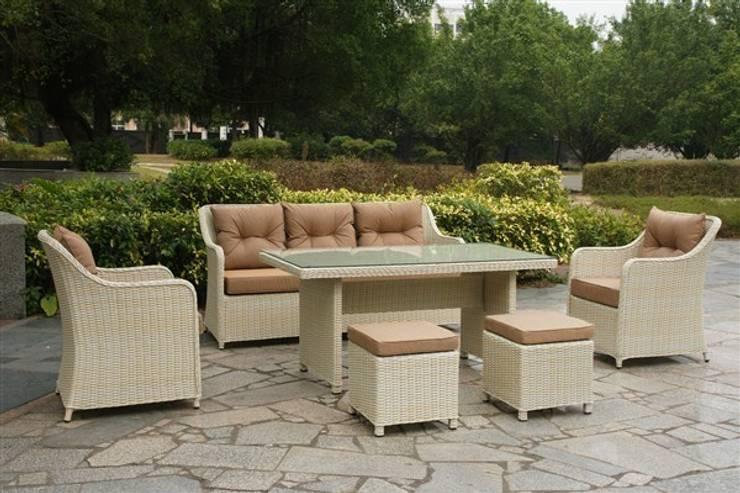 Kumbahçe Bahçe Mobilyaları – Mix Masalı Oturma Takımı Ivory Color:  tarz Bahçe