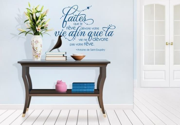 Sticker Mural - Faites que le rêve dévore votre vie afin...: Maison de style  par wall-art.fr