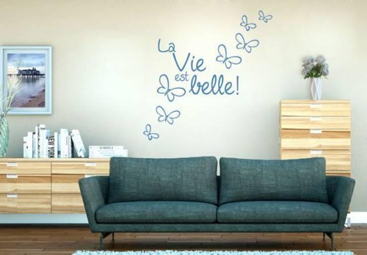 Sticker Mural - La vie est belle!: Maison de style  par wall-art.fr