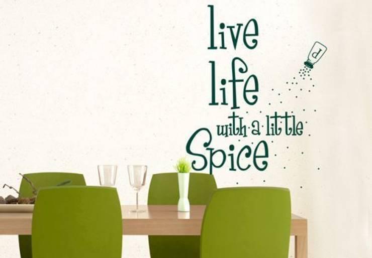 Sticker Mural - Live life with a little Spice: Cuisine de style  par wall-art.fr