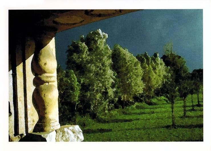 """vista dalla """"Loggia"""" / view from """"Loggia"""":  in stile  di Renato Michieli,"""