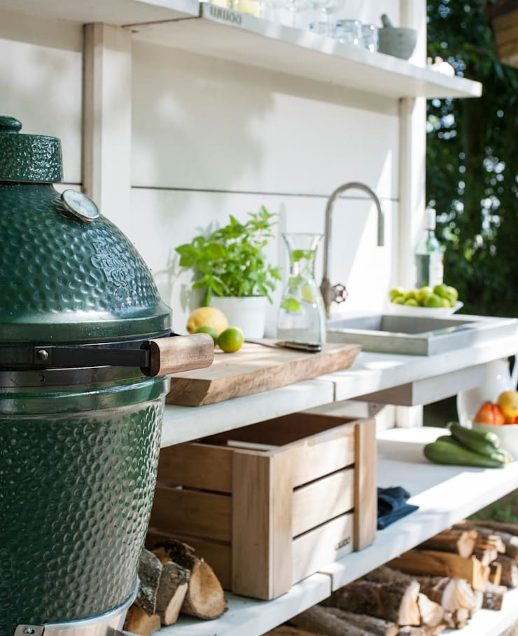 Sfeerimpressie WWOO Concrete Outdoor Kitchen Landelijke tuinen van NewLook Brasschaat Keukens Landelijk