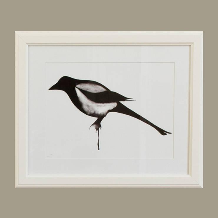 Magpie:  Artwork by Dwelling Bird