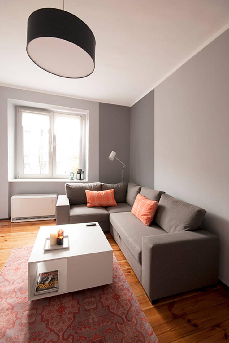 Projekt mieszkania: styl , w kategorii Salon zaprojektowany przez Za murami za dachami