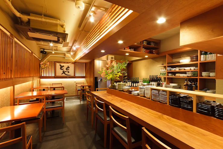 Japanese Restaurant totoya: INTERFACEが手掛けたレストランです。