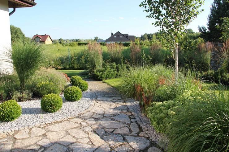 Kuliste bukszpany: styl , w kategorii  zaprojektowany przez Garden Idea - Projektowanie Ogrodów