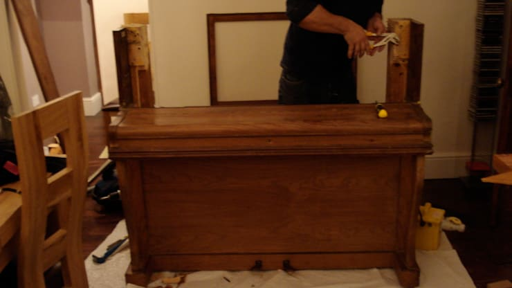 Upright pianino converted to a minibar:   by woodstylelondon