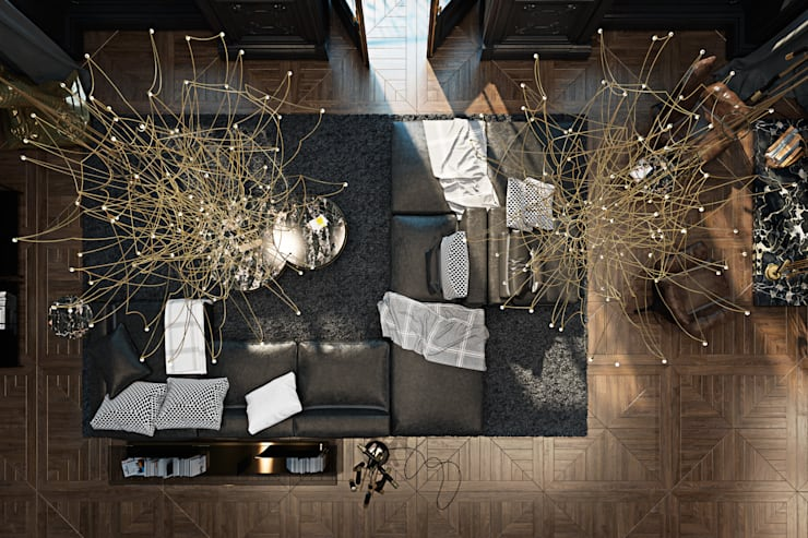 Salas de estar ecléticas por Виталий Юров