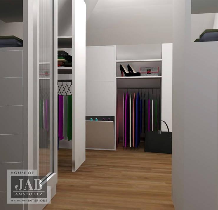 3D visualisatie inloopkast:   door House of JAB by Verstappen Interiors