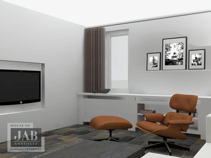 3D visualisatie living beeld 2:   door House of JAB by Verstappen Interiors