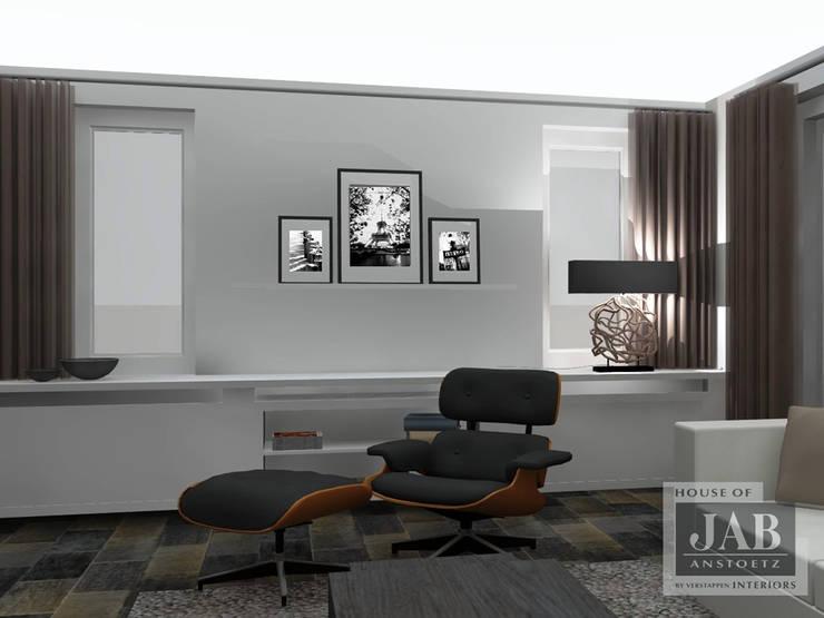 3D visualisatie living:   door House of JAB by Verstappen Interiors