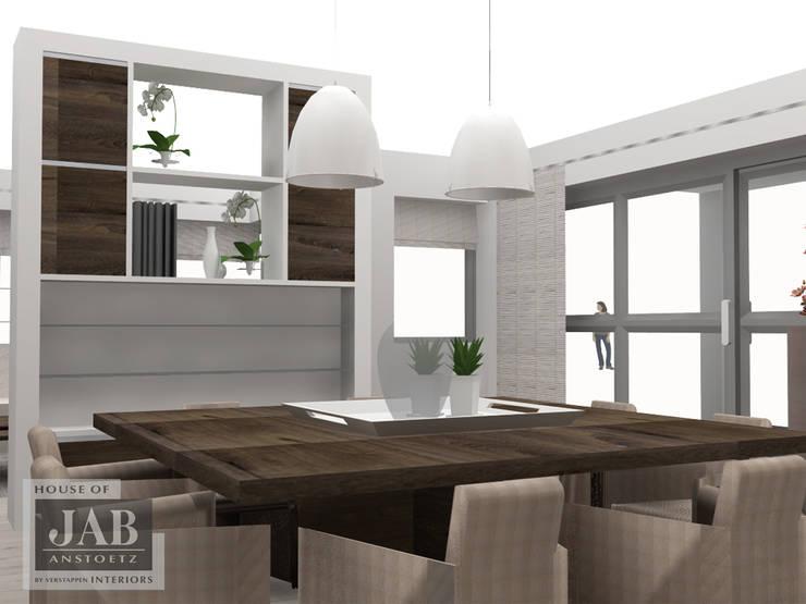 maatwerk kast - roomdivider 3D uitgewerkt :  Eetkamer door House of JAB by Verstappen Interiors