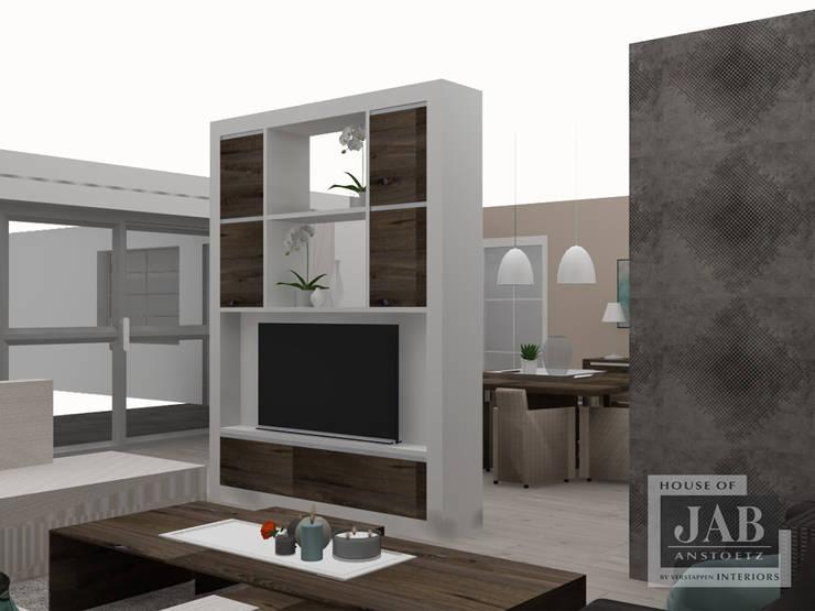 maatwerk kast 3d uitgewerkt:  Woonkamer door House of JAB by Verstappen Interiors