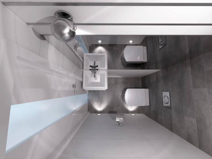 Projekt domu w stylu nowoczesnym: styl , w kategorii Łazienka zaprojektowany przez iProjektowanieWnętrz