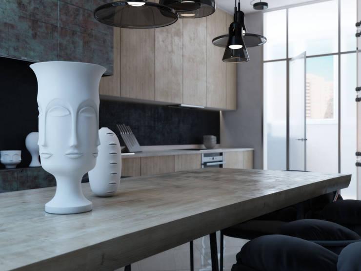 Fireplace apartment: Кухни в . Автор – Виталий Юров
