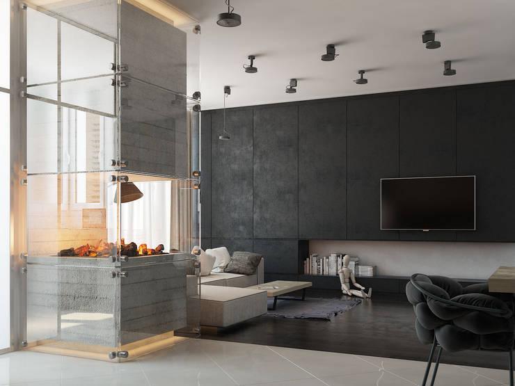 Fireplace apartment: Гостиная в . Автор – Виталий Юров