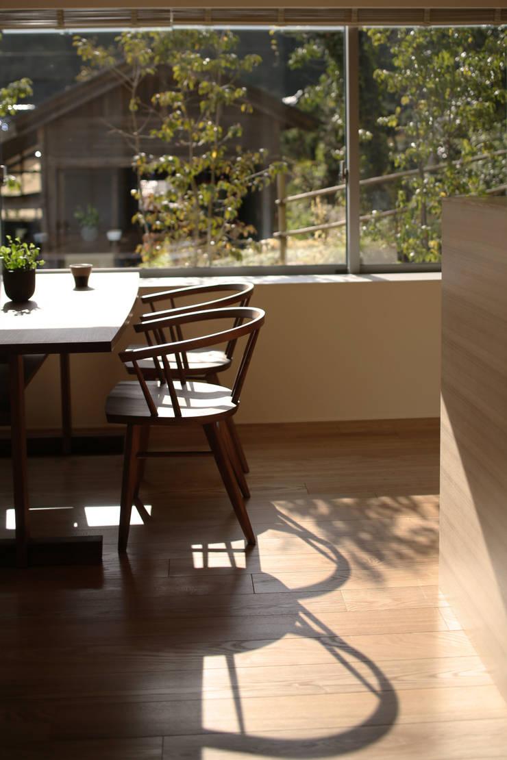 小矢部の家: 深山知子一級建築士事務所・アトリエレトノが手掛けたダイニングです。
