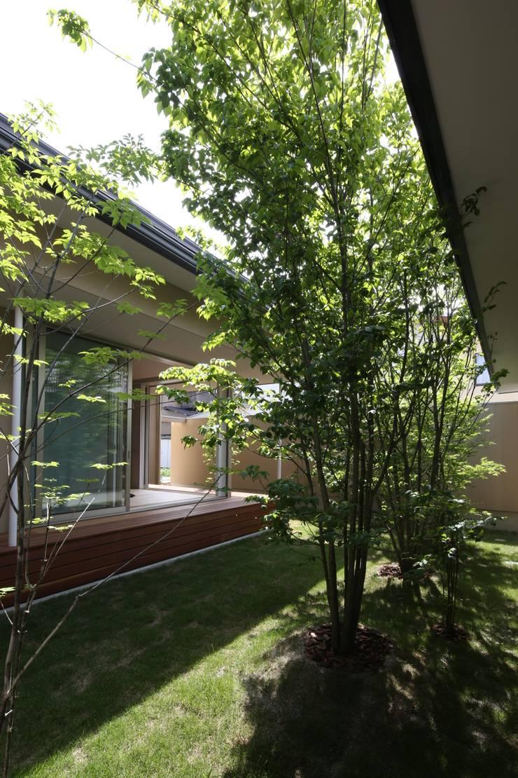 古川町の家: 深山知子一級建築士事務所・アトリエレトノが手掛けた庭です。