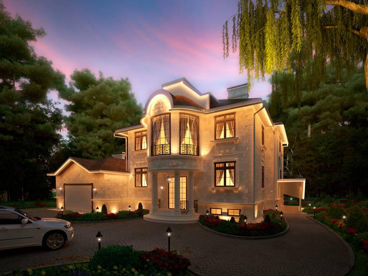 Фасад главного дома, главный вход: Дома в . Автор – Y&S ARCHITECTURE – INTERIOR DESIGN
