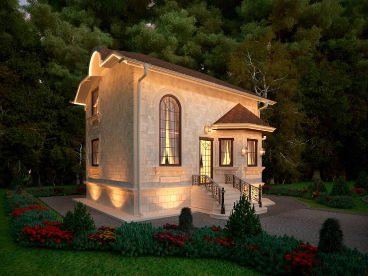 Фасад гостевого дома, главный вход: Дома в . Автор – Y&S ARCHITECTURE – INTERIOR DESIGN